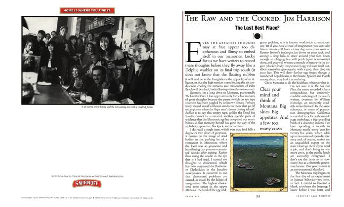 Article Preview: The Last Best Place?, FEBRUARY 1992 1992 | Esquire