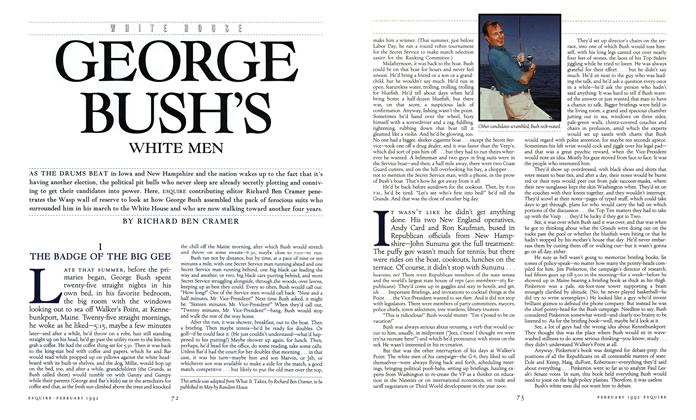 Article Preview: George Bush's White Men, February 1992 | Esquire