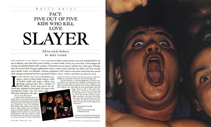 Article Preview: Fact: Five Out of Five Kids Who Kill Love Slayer, FEBRUARY 1992 1992 | Esquire