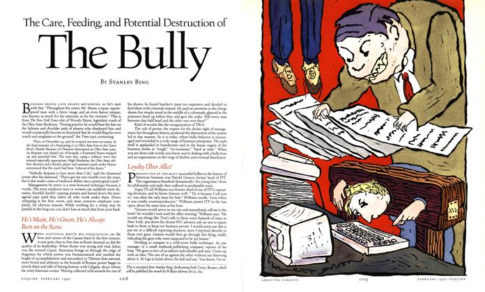The Care, Feeding, and Potential Destruction of the Bully