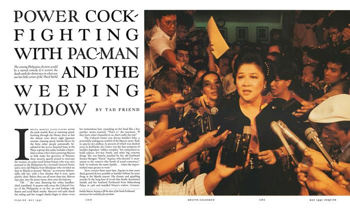 Article Preview: Power Cockfighting with Pac-Man and the Weeping Widow, May 1992 | Esquire