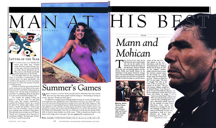 Article Preview: Mann and Mohican, JULY 1992 1992 | Esquire