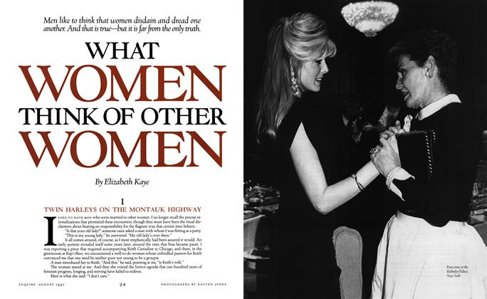 Article Preview: What Women Think of Other Women, August 1992 | Esquire