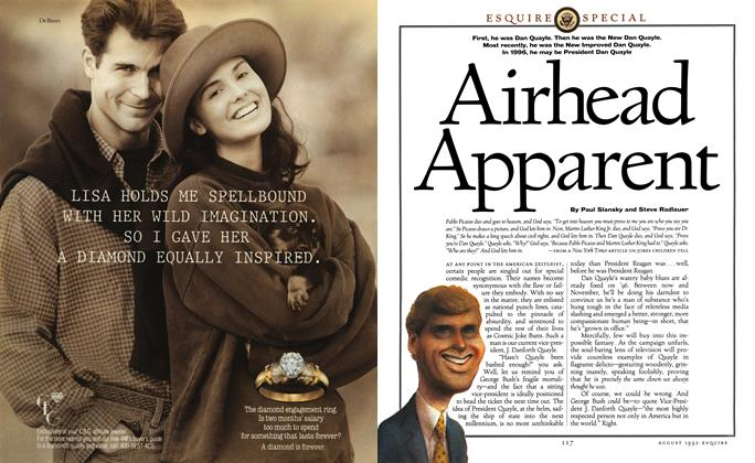 Article Preview: Airhead Apparent, August 1992 | Esquire