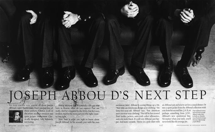 Joseph Abboud's Next Step