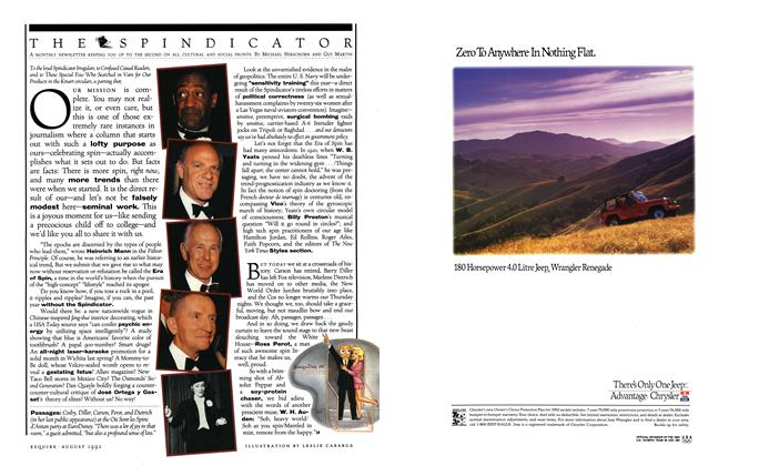 Article Preview: THE SPINDICATOR, August 1992   Esquire