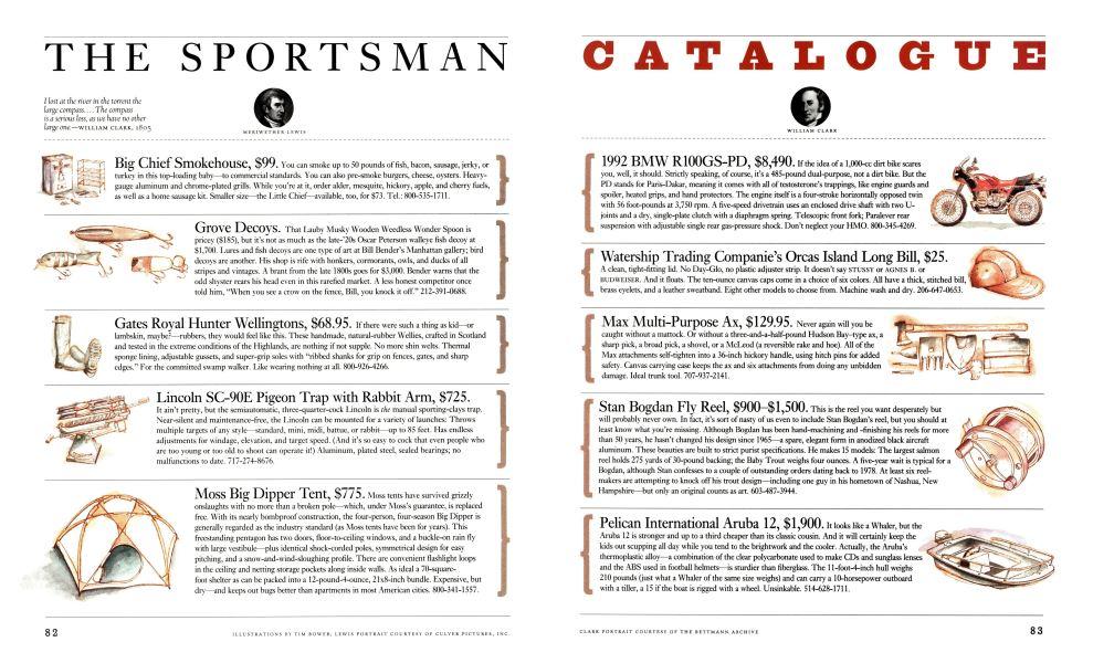 The Sportsman Catalogue | Esquire | AUTUMN 1992