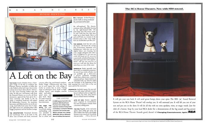 Article Preview: A Loft on the Bay, NOVEMBER 1992 1992 | Esquire