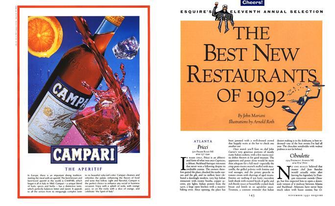 The Best New Restaurants of 1992