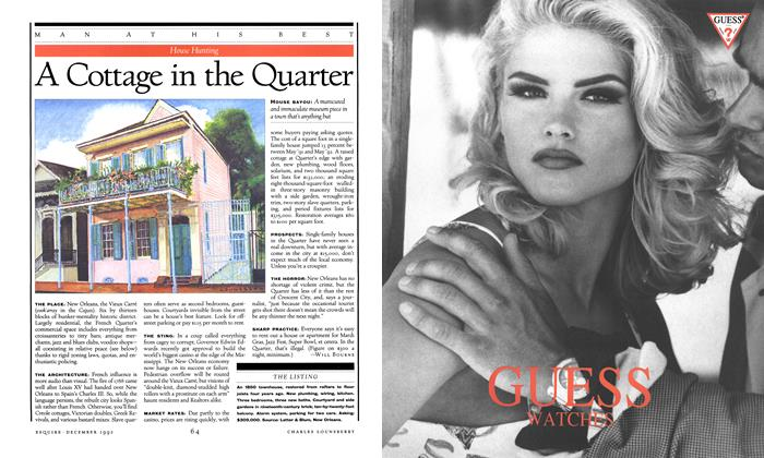 Article Preview: A Cottage in the Quarter, DECEMBER 1992 1992 | Esquire