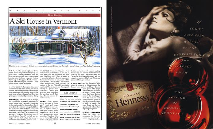 Article Preview: A Ski House in Vermont, JANUARY 1993 1993 | Esquire