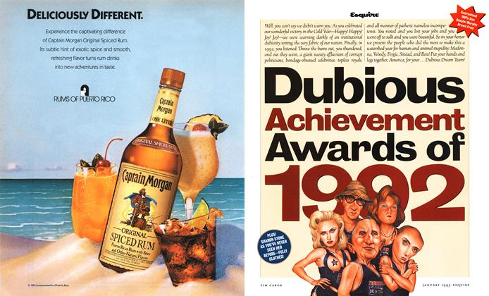 Dubious Achievement Awards of 1992