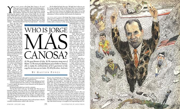 Who Is Jorge Mas Canosa?