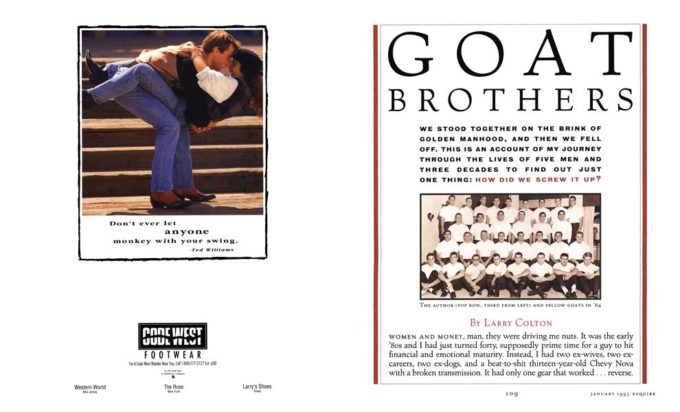 Goat Brothers | Esquire | JANUARY 1993
