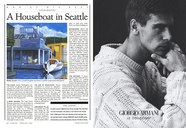 Article Preview: A Houseboat in Seattle, February 1993 1993 | Esquire