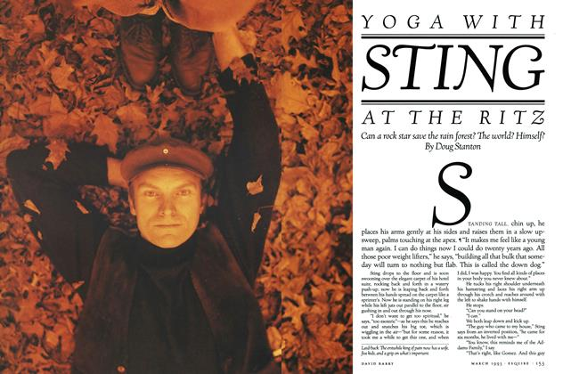 Yoga with Sting at The Ritz