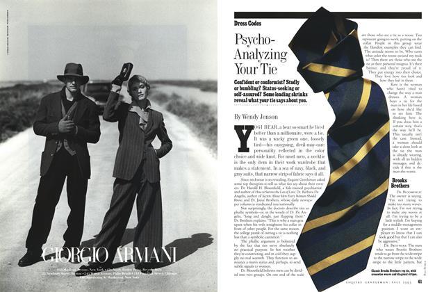 Psycho-analyzing Your Tie