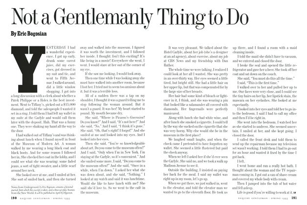 Article Preview: Not a Gentlemanly Thing to Do, Spring-Summer 1993 1993 | Esquire
