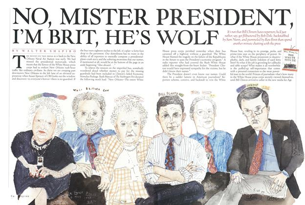 Article Preview: No, Mister President, I'm Brit, He's Wolf, JULY 1993 1993   Esquire