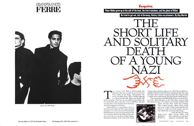 Article Preview: The Short Life and Solitary Death of a Young Nazi, SEPTEMBER 1993 1993 | Esquire