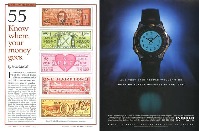 Article Preview: 55 Know where your money goes., OCTOBER 1993 1993 | Esquire