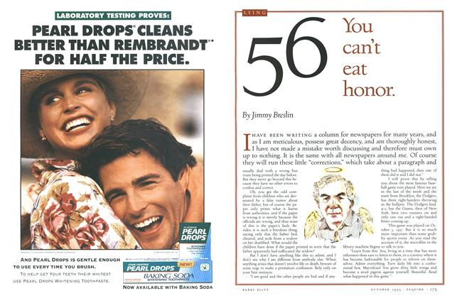Article Preview: No. 56: You can't eat honor., October 1993 | Esquire