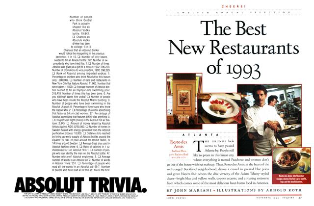Article Preview: The Best New Restaurants of 1993, November 1993 | Esquire