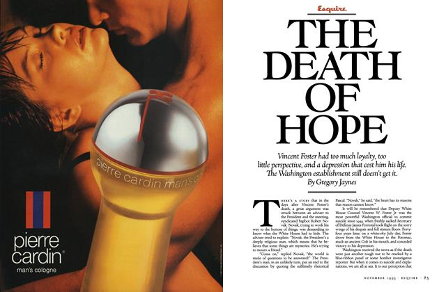 Article Preview: The Death of Hope, November 1993 | Esquire
