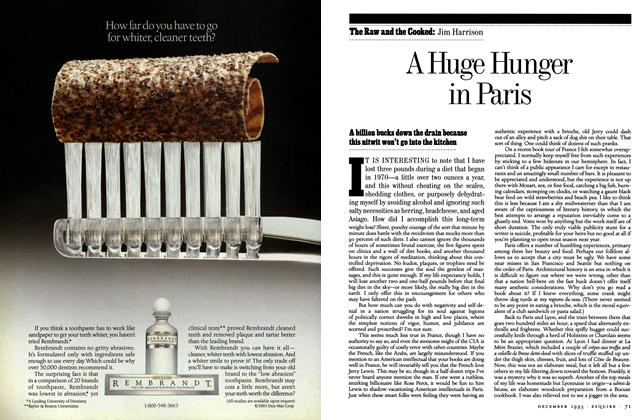 Article Preview: A Huge Hunger in Paris, December 1993 | Esquire