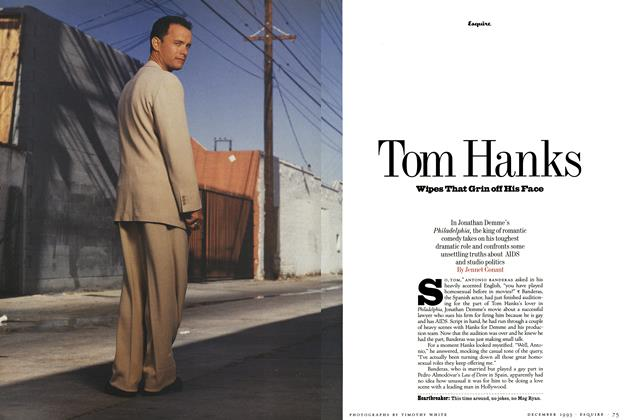 Tom Hanks Wipes That Grin off His Face