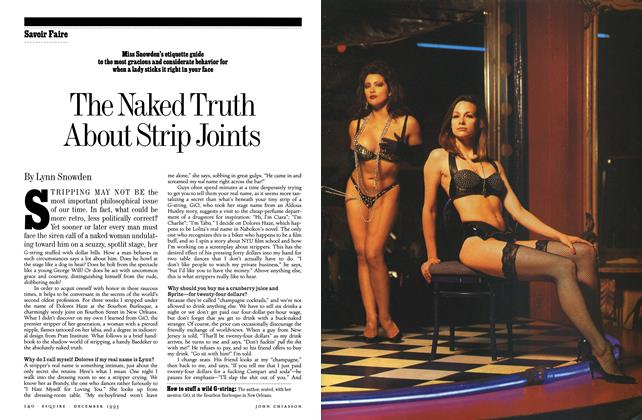Article Preview: The Naked Truth About Strip Joints, DECEMBER 1993 1993 | Esquire
