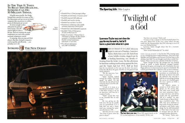 Article Preview: Twilight of a God, JANUARY 1994 1994 | Esquire