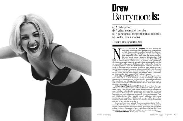 Article Preview: Drew Barrymore Is:, February 1994 | Esquire