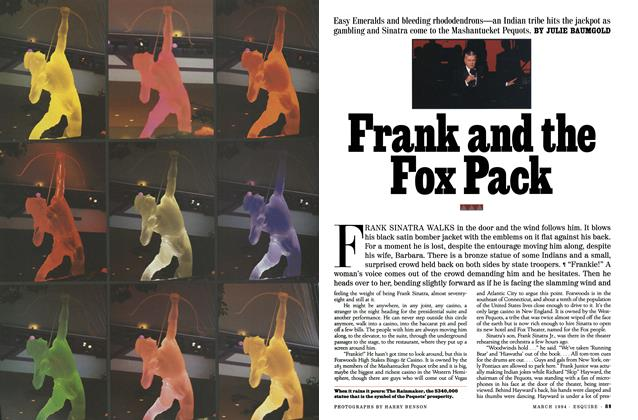 Article Preview: Frank and the Fox Pack, March 1994 | Esquire