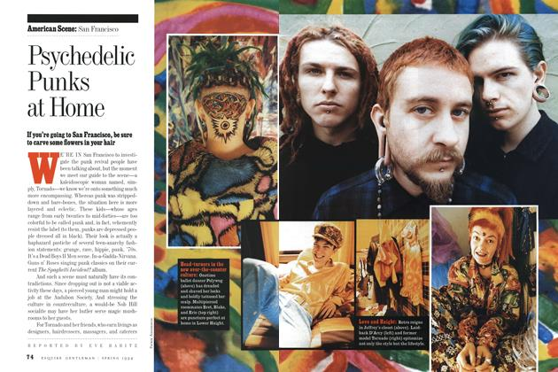 Article Preview: Psychedelic Punks at Home, Spring 1994 1994   Esquire