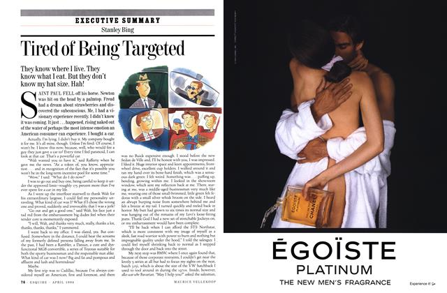 Article Preview: Tired of Being Targeted, APRIL 1994 1994 | Esquire