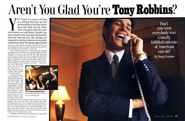 Aren't You Glad You're Tony Robbins?