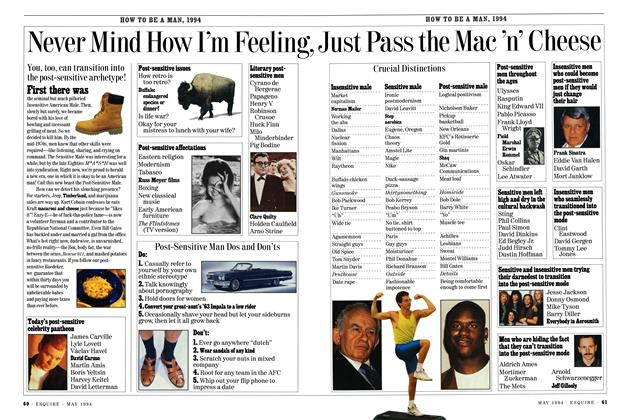 Article Preview: Never Mind How I'm Feeling, Just Pass the Mac 'n' Cheese, MAY 1994 1994 | Esquire