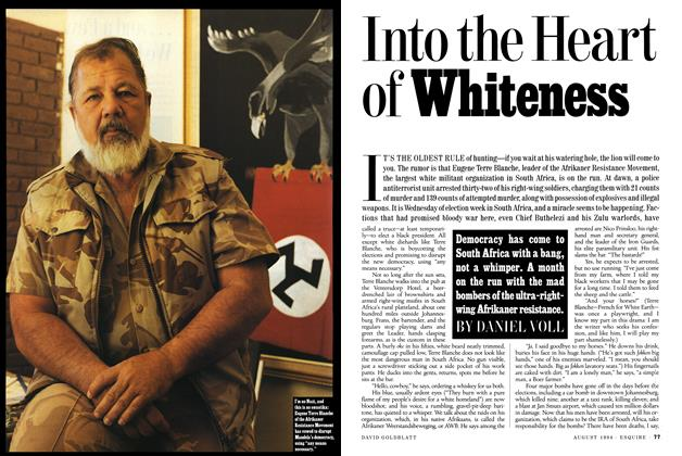 Article Preview: Into the Heart of Whiteness, AUGUST 1994 1994 | Esquire