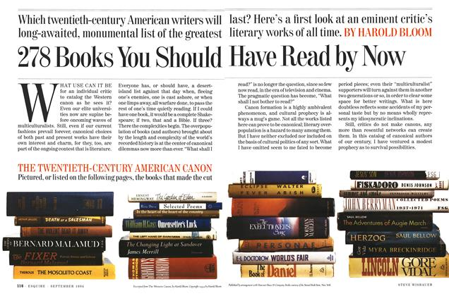 Article Preview: 278 Books You Should Have Read By Now, SEPTEMBER 1994 1994 | Esquire