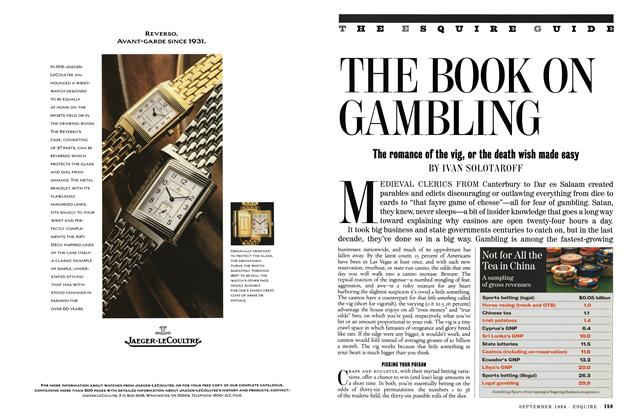 Article Preview: The Book on Gambling, SEPTEMBER 1994 1994 | Esquire
