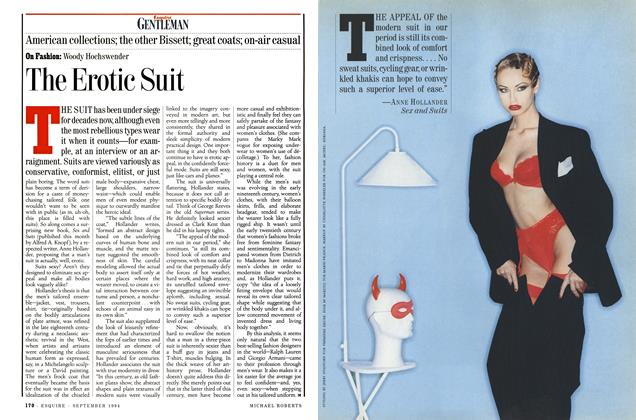 Article Preview: The Erotic Suit, SEPTEMBER 1994 1994 | Esquire
