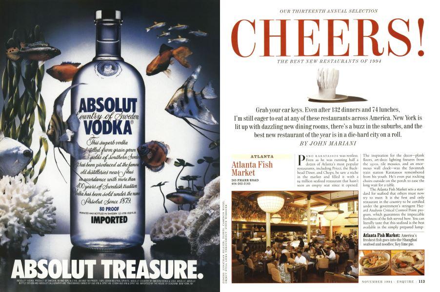 Cheers!   Esquire   NOVEMBER 1994