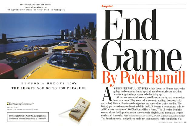 Article Preview: End Game, DECEMBER 1994 1994 | Esquire
