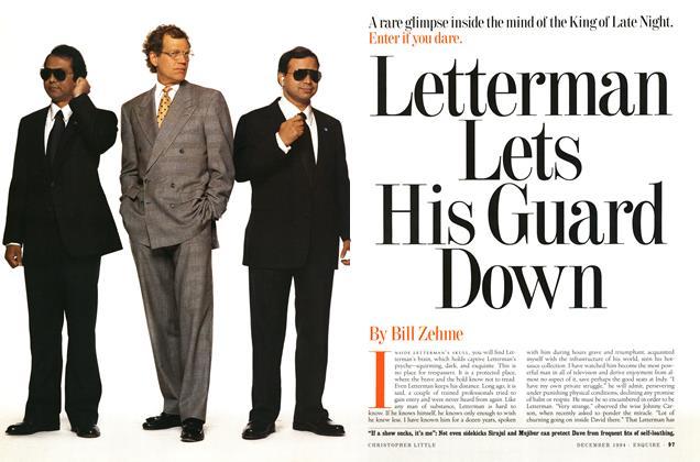 Article Preview: Letterman Lets His Guard Down, December 1994 | Esquire
