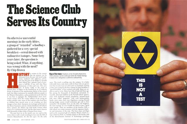Article Preview: The Science Club Serves Its Country, December 1994 | Esquire