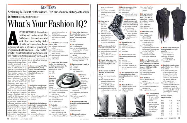 Article Preview: What's Your Fashion IQ?, JANUARY 1995 1995 | Esquire