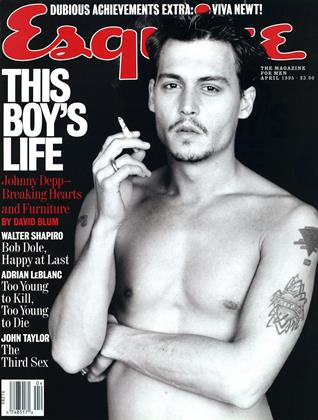 Cover for the April 1995 issue