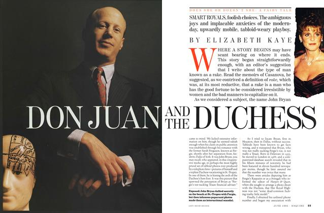 Article Preview: Don Juan and the Duchess, June 1995 | Esquire