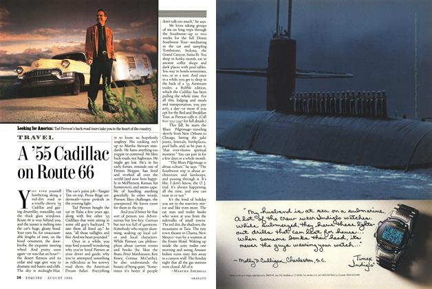 Article Preview: A '55 Cadillac on Route 66, AUGUST 1995 1995 | Esquire